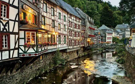 Panorama photo of Monschau Germany